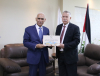 Palestine Polytechnic University (PPU) - University Graduates Union and Palestine Polytechnic University receive the Deputy Minister of Interior