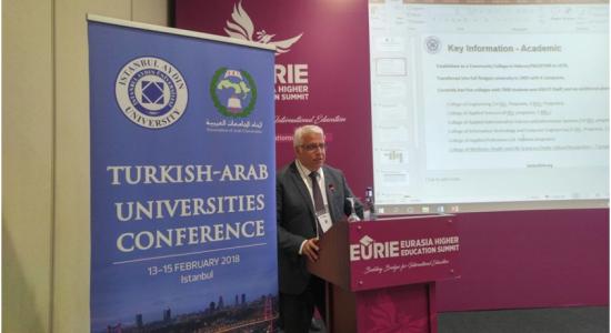 Palestine Polytechnic University (PPU) - Palestine Polytechnic University Participates in the Turkish-Arab Universities Conference and Eurasia Higher Education Summit 2018