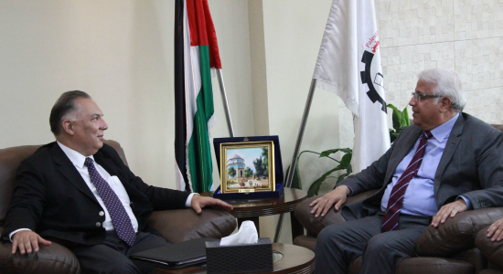 Palestine Polytechnic University (PPU) - Palestine Polytechnic University receives the Turkish Ambassador for the State of Palestine and discuses ways of enhancing Joint Cooperation