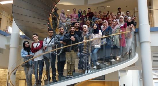 Palestine Polytechnic University (PPU) -  عودة 38 طالباً وطالبة بعد المشاركة في برنامج تبادل طلابي إلى جامعة ميتشغان في الولايات المتحدة الأمريكية