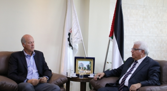 Palestine Polytechnic University (PPU) - Palestine Polytechnic University receives a delegation from both the International AECOM and the Palestinian Power Project