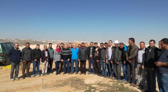 Palestine Polytechnic University (PPU) - مركز الحجر والرخام في جامعة بوليتكنك فلسطين يطلق المرحلة التدريبية الأولى لتقنية الكشف عن الموارد الطبيعية في باطن الأرض باستخدام الوحدة الجيوفيزيائية