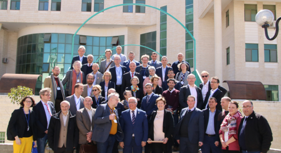 Palestine Polytechnic University (PPU) - Twenty German University Presidents and Representatives of the German Academic Exchange Service ( DAAD) make a visit to Palestine Polytechnic University