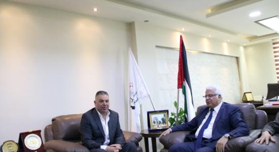 Palestine Polytechnic University (PPU) - جامعة بوليتكنك فلسطين تستقبل وفداً من شركة الجابر للمقاولات