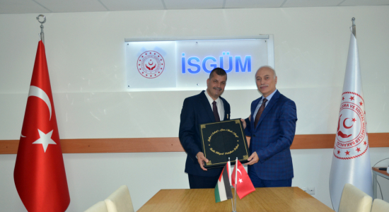Palestine Polytechnic University (PPU) - Palestine Polytechnic University and the Turkish National Center for Studies and Research in Occupational Safety and Health discuss the prospects of joint cooperation
