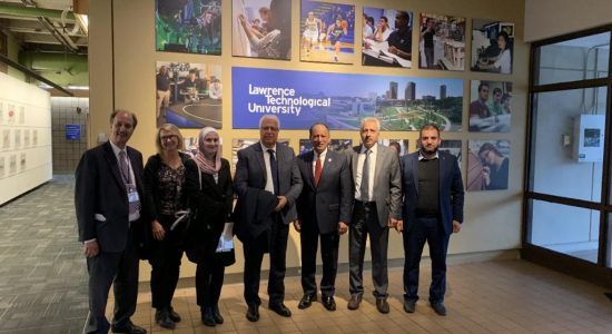 Palestine Polytechnic University (PPU) - A delegation from Palestine Polytechnic University organizes a visit to American universities in Michigan