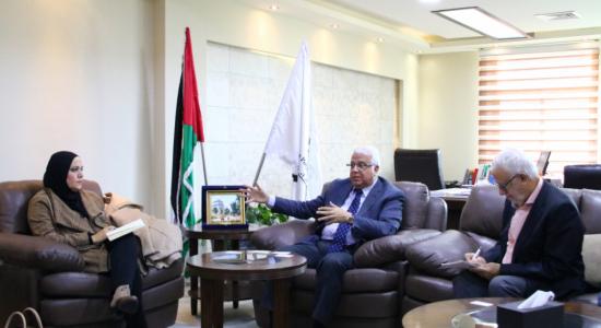 Palestine Polytechnic University (PPU) - جامعة بوليتكنك فلسطين تستقبل وفداً من مستشاري مكتب رئاسة الوزراء للتنمية العنقودية