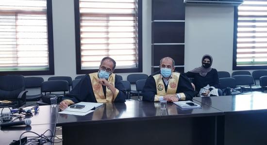 Palestine Polytechnic University (PPU) - مناقشة رسالة ماجستير في علم الصيدلة الجينية